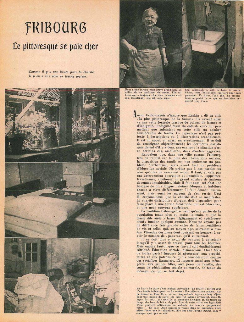 Fribourg, le pittoresque se paie cher, p. 1